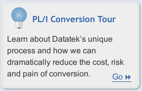 Learn more about Datatek's Automated PL/I Conversion Service
